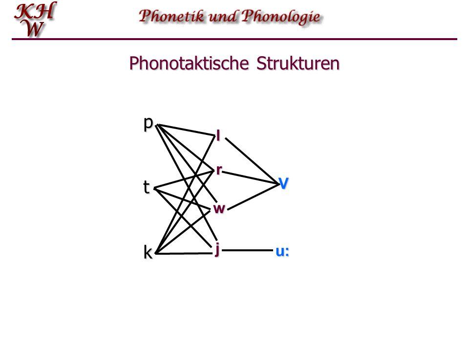 Phonotaktische Strukturen p t klV r w j u: