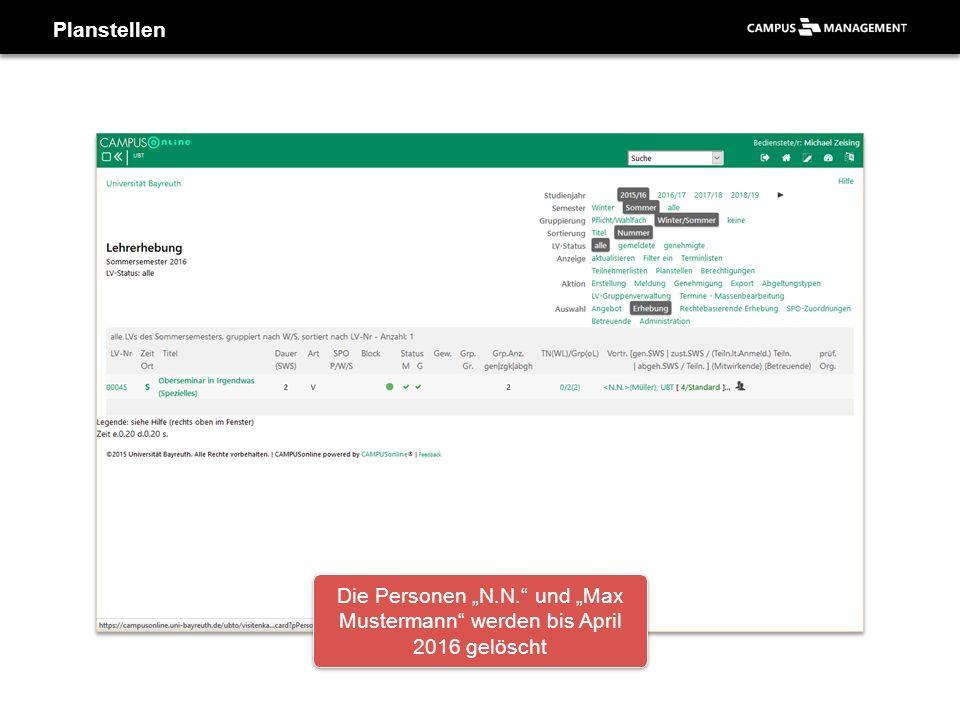 """Die Personen """"N.N. und """"Max Mustermann werden bis April 2016 gelöscht"""