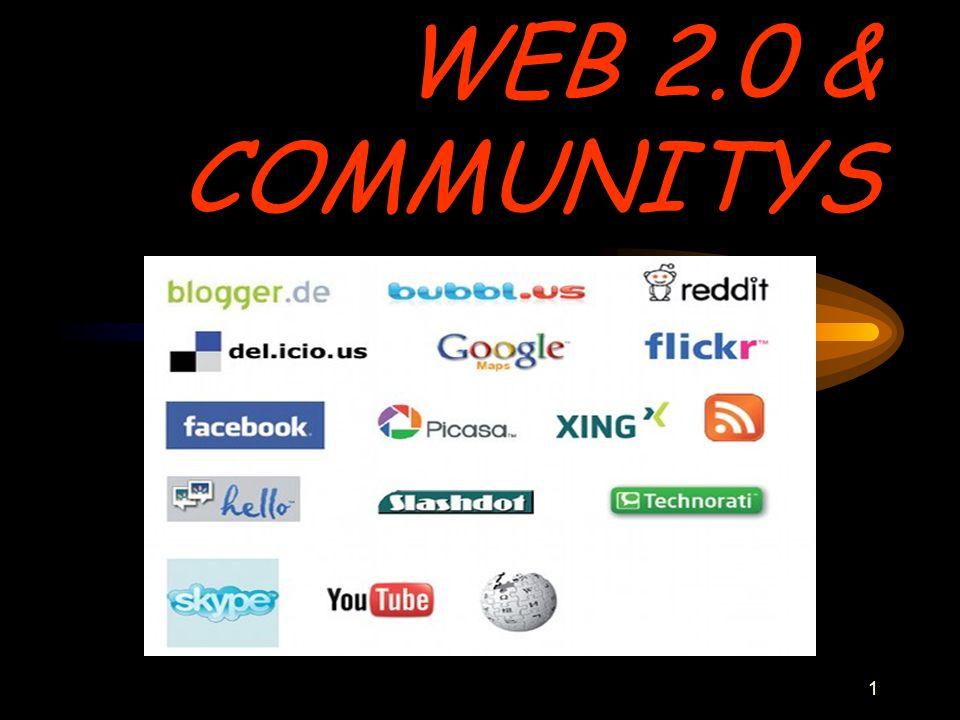 2 ErKlÄrUnG Community: Mehr oder weniger spezialisierte Online-Gemeinschaft.