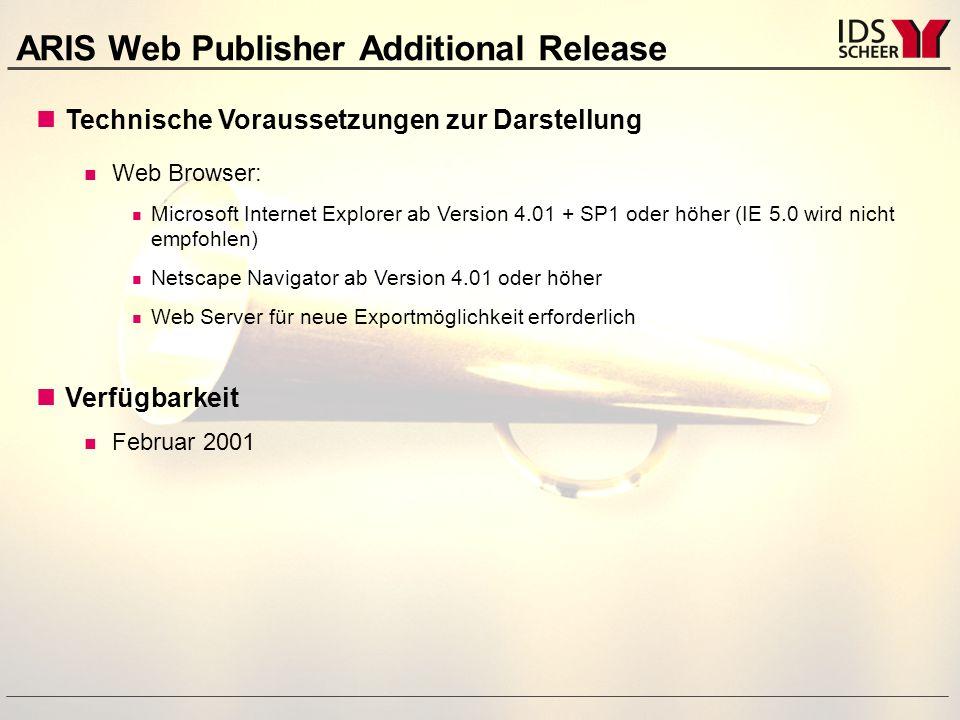 ARIS Web Publisher Schnelle und weltweite Informationsbereitstellung