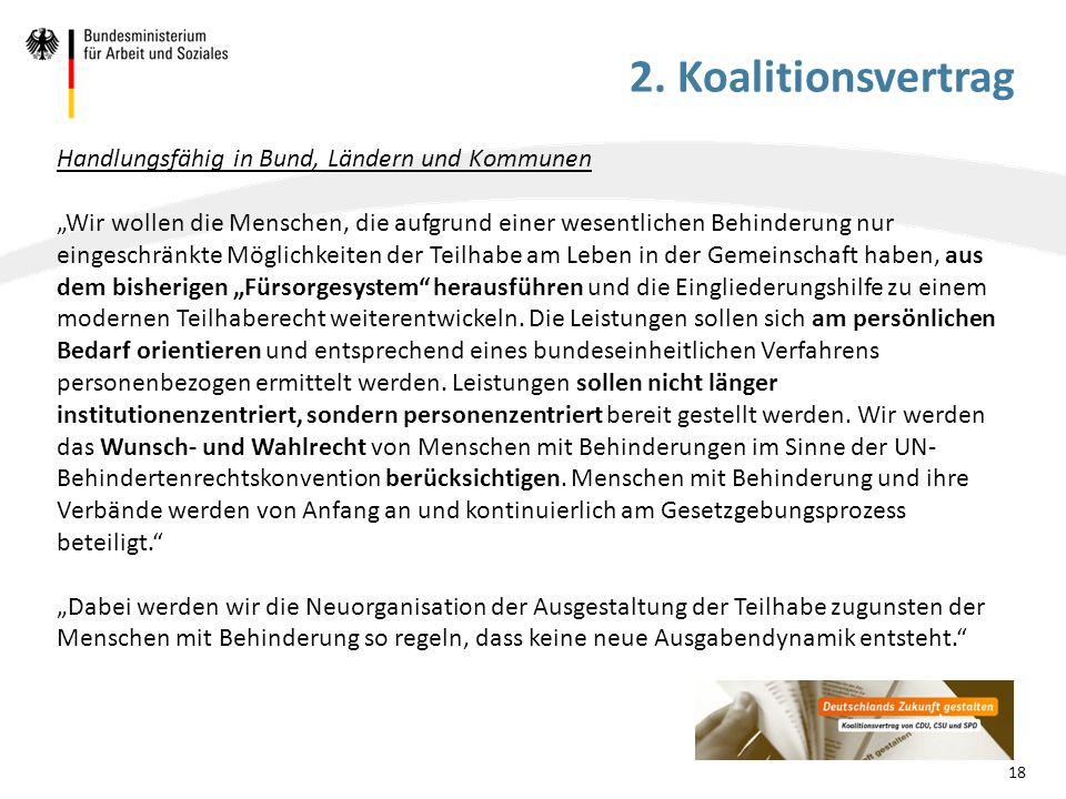 Exkurs: Bund-Länder-Finanzen Verhinderung der Ausgabendynamik in der EGH: Die individuelle Gesamtplanung als Grundvoraussetzung für personenzentrierte Leistungsgewährung und -erbringung in der EGH wird verbessert.
