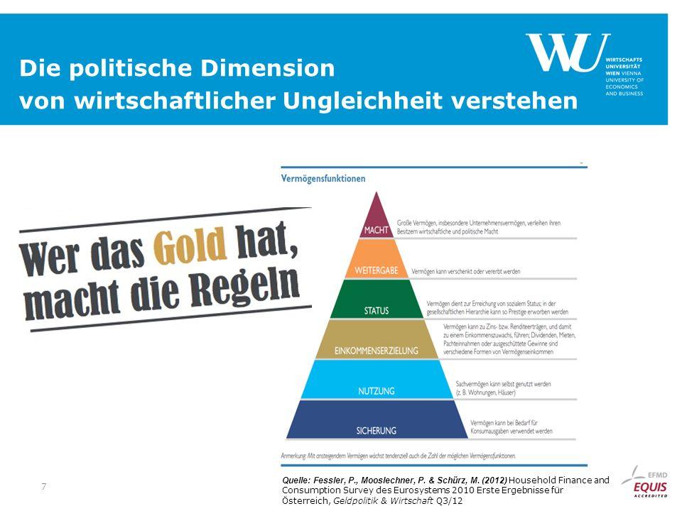 7 Die politische Dimension von wirtschaftlicher Ungleichheit verstehen Quelle: Fessler, P., Mooslechner, P.