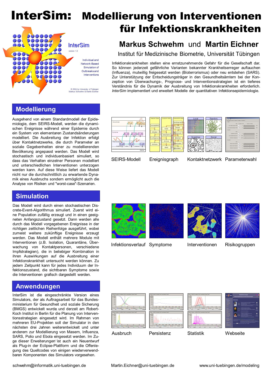 InterSim: Modellierung von Interventionen für Infektionskrankheiten Markus Schwehm und Martin Eichner Institut für Medizinische Biometrie, Universität