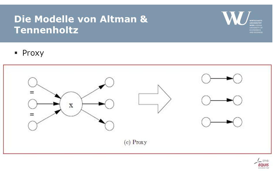 Die Modelle von Altman & Tennenholtz  Proxy
