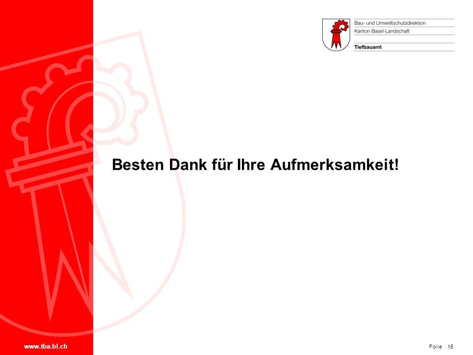 Folie www.tba.bl.ch 15 Besten Dank für Ihre Aufmerksamkeit!