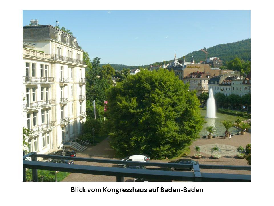 Blick vom Kongresshaus auf Baden-Baden