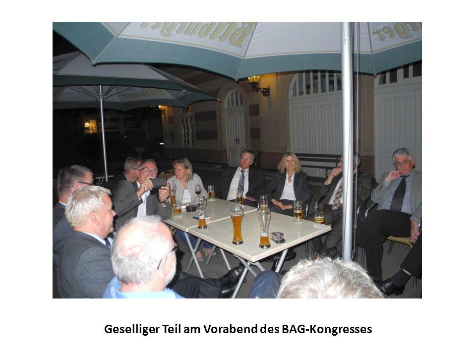 Geselliger Teil am Vorabend des BAG-Kongresses