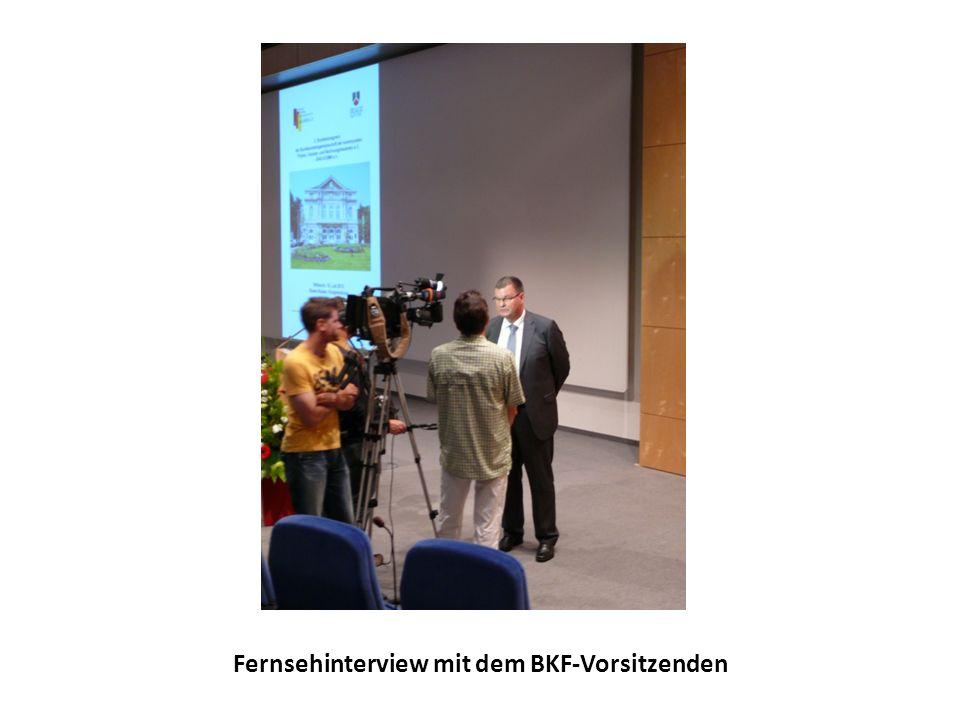 Fernsehinterview mit dem BKF-Vorsitzenden