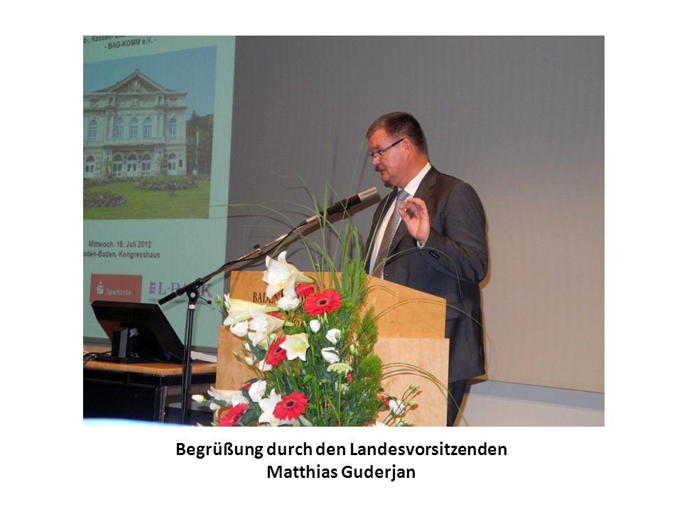 Begrüßung durch den Landesvorsitzenden Matthias Guderjan