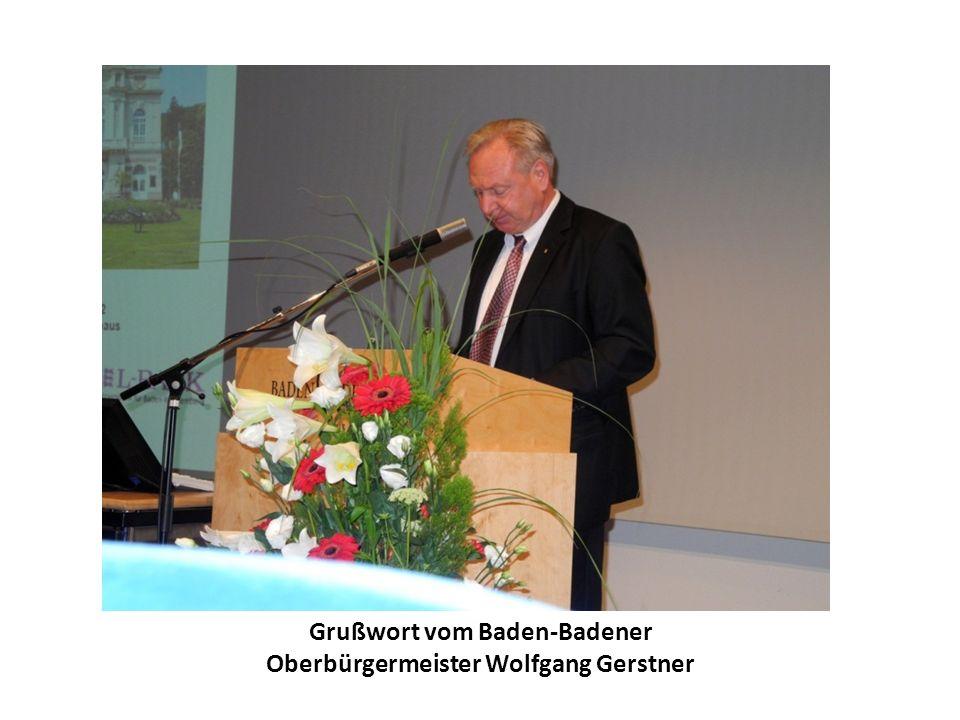 Grußwort vom Baden-Badener Oberbürgermeister Wolfgang Gerstner