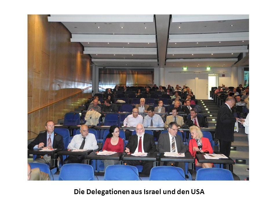Die Delegationen aus Israel und den USA