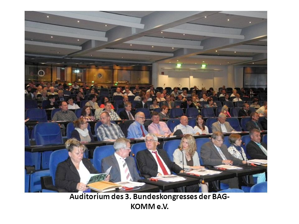 Auditorium des 3. Bundeskongresses der BAG- KOMM e.V.