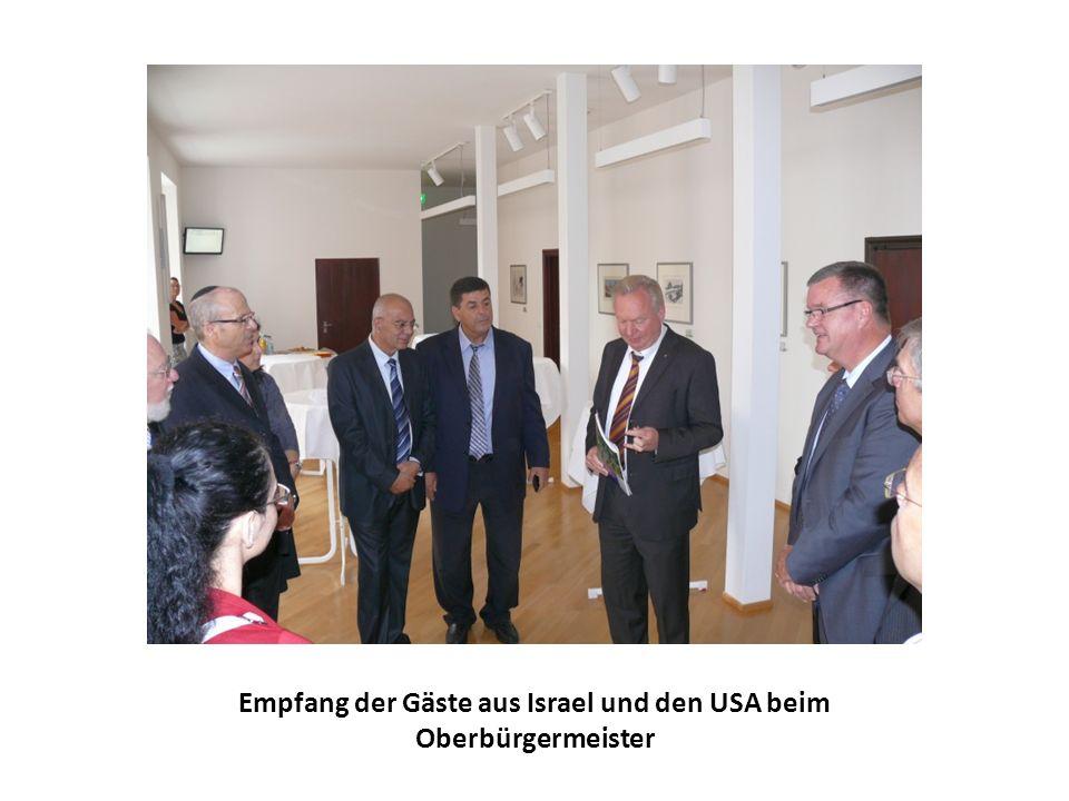 Empfang der Gäste aus Israel und den USA beim Oberbürgermeister