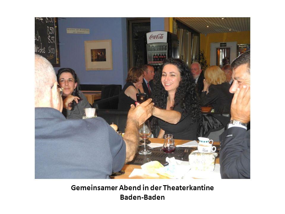 Gemeinsamer Abend in der Theaterkantine Baden-Baden