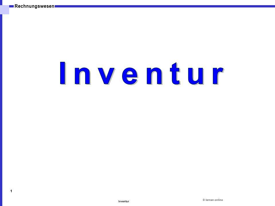 ©lernen online Rechnungswesen Inventur 1