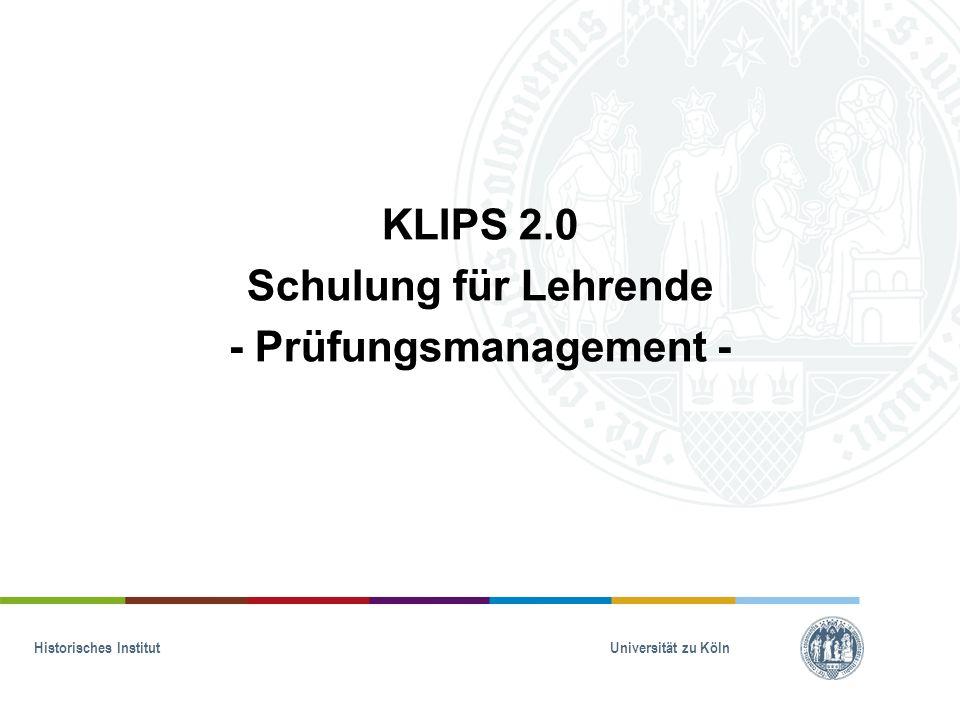Historisches Institut Universität zu Köln