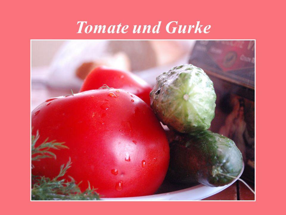 Tomate und Gurke