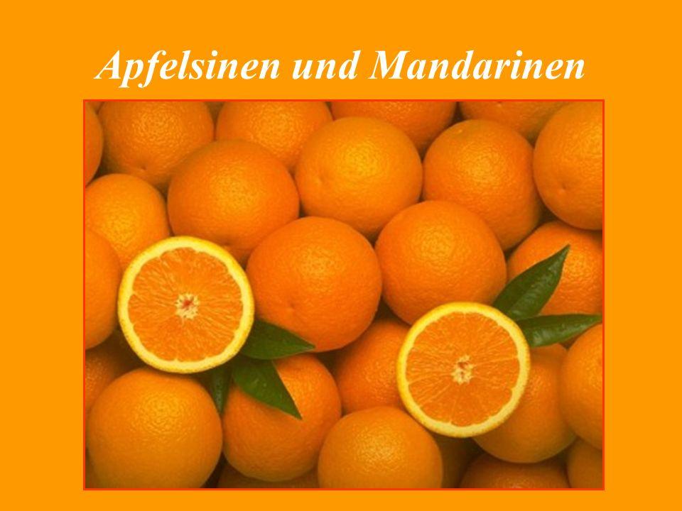 Apfelsinen und Mandarinen