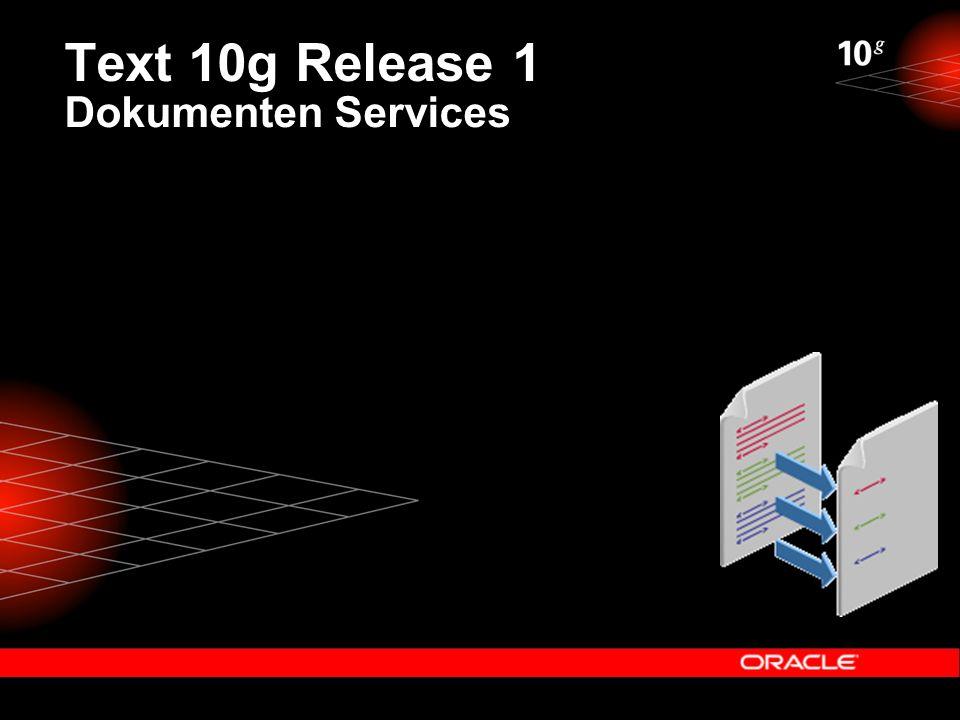 Text 10g Release 1 Dokumenten Services