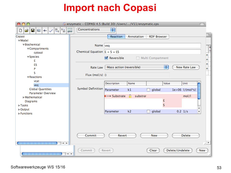 Softwarewerkzeuge WS 15/16 Import nach Copasi 53