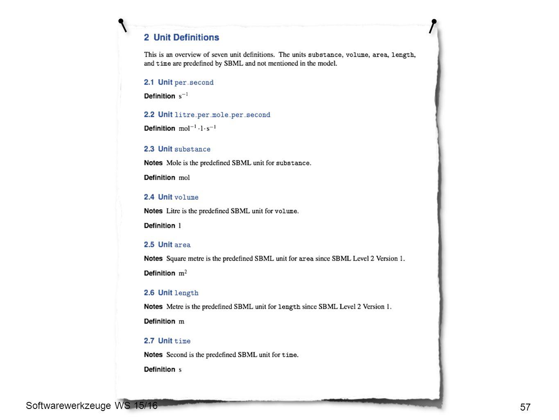 Softwarewerkzeuge WS 15/16 57