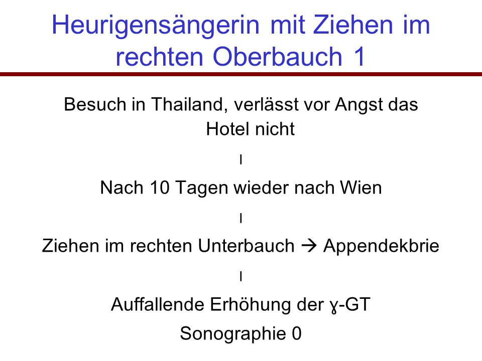 Heurigensängerin mit Ziehen im rechten Oberbauch 1 Besuch in Thailand, verlässt vor Angst das Hotel nicht ⃓ Nach 10 Tagen wieder nach Wien ⃓ Ziehen im