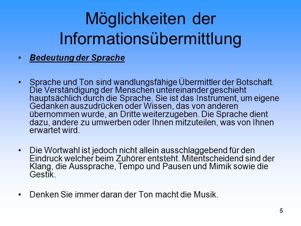26 Möglichkeiten der Informationsübermittlung Audiovisuelle Medien Fernsehen Öffentlich-rechtliche Sendeanstalten: 11 ARD-Programme (Erstes und Drittes Programm) ZDF und ca.