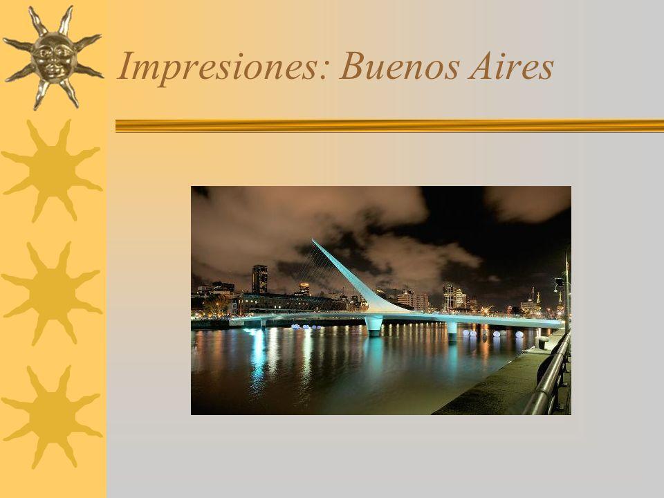 Impresiones: Buenos Aires