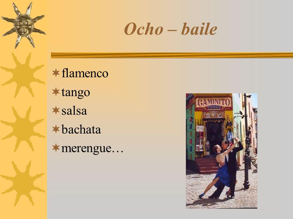 Ocho – baile  flamenco  tango  salsa  bachata  merengue…