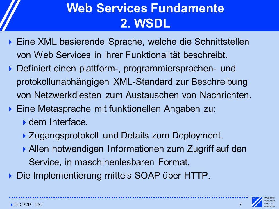 4PG P2P: Titel7 Web Services Fundamente 2.