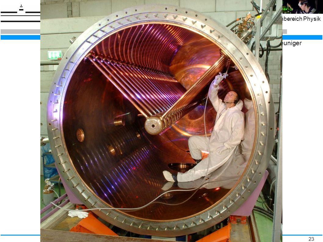 23 Fachbereich Physik Widerøe – Driftröhrenbeschleuniger http://de.wikipedia.org/wiki/Linearbeschleuniger