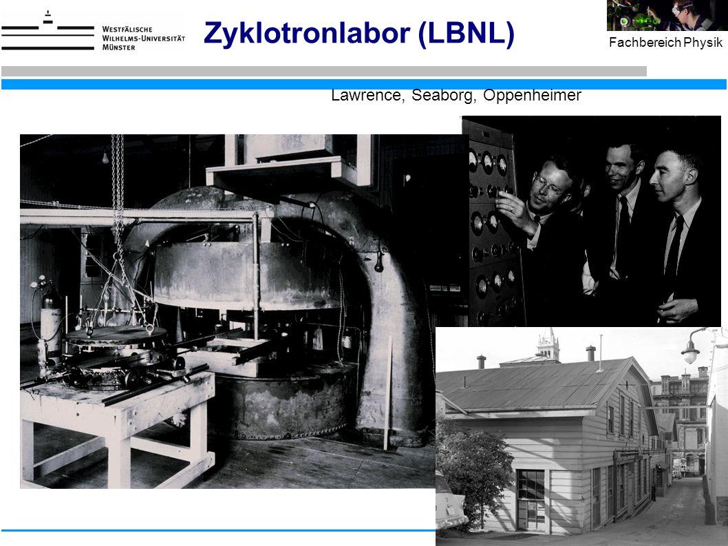 26 Fachbereich Physik Zyklotronlabor (LBNL) Lawrence, Seaborg, Oppenheimer