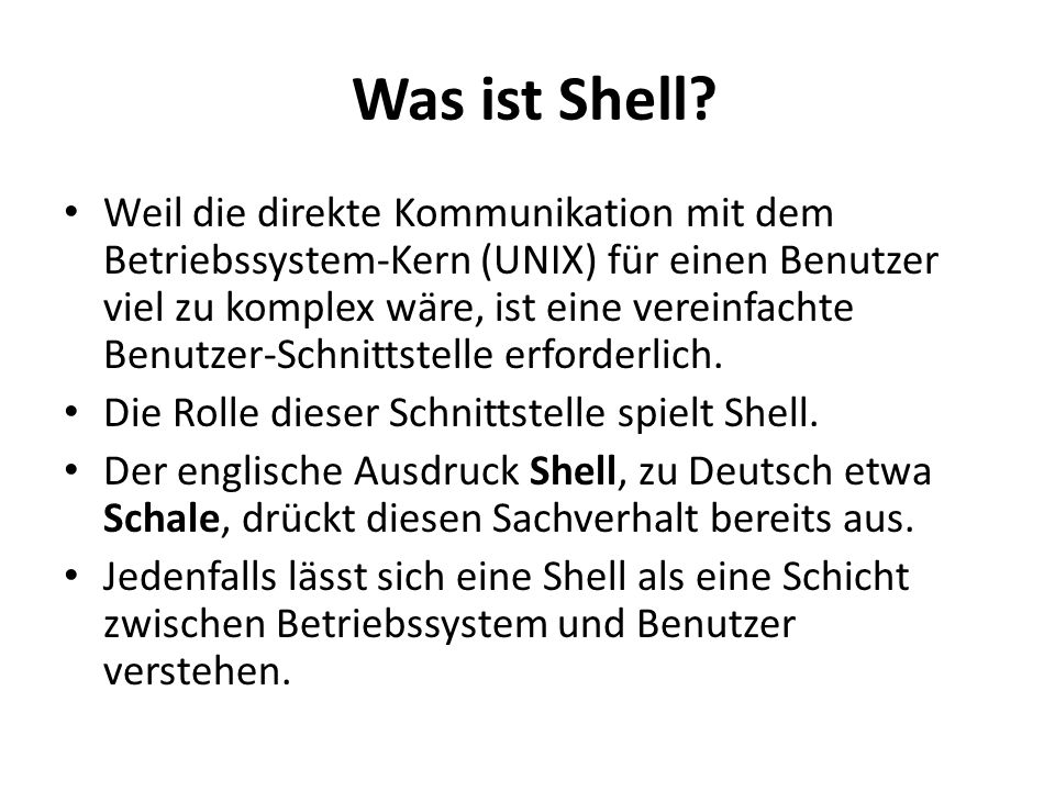Was ist Shell.