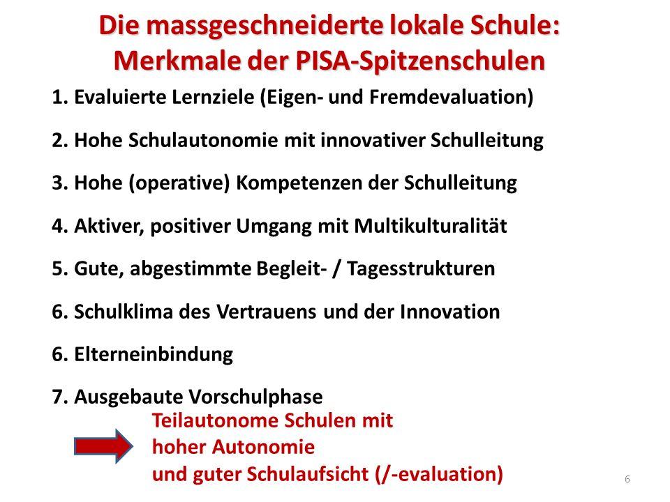 Die massgeschneiderte lokale Schule: Merkmale der PISA-Spitzenschulen 1.