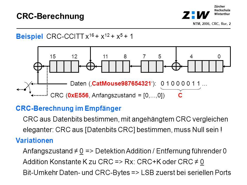 SW-Implementation SW-Realisierung weniger einfach als HW-Realisierung Press et.