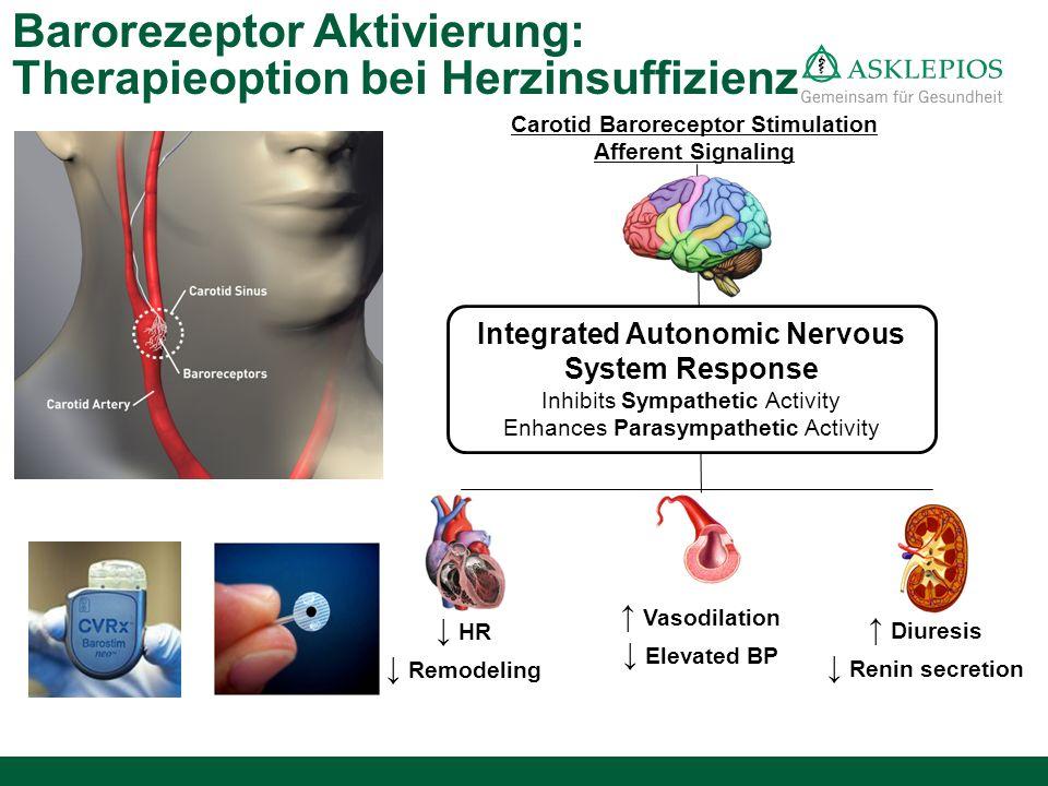 Integrated Autonomic Nervous System Response Inhibits Sympathetic Activity Enhances Parasympathetic Activity Carotid Baroreceptor Stimulation Afferent