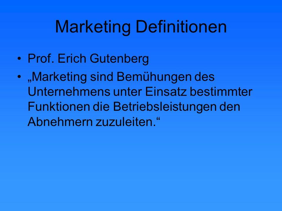 Marketing Definitionen Prof.
