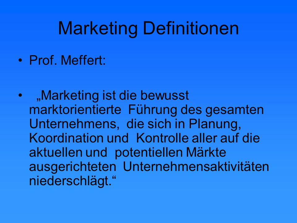 Marketing Definitionen Prof.