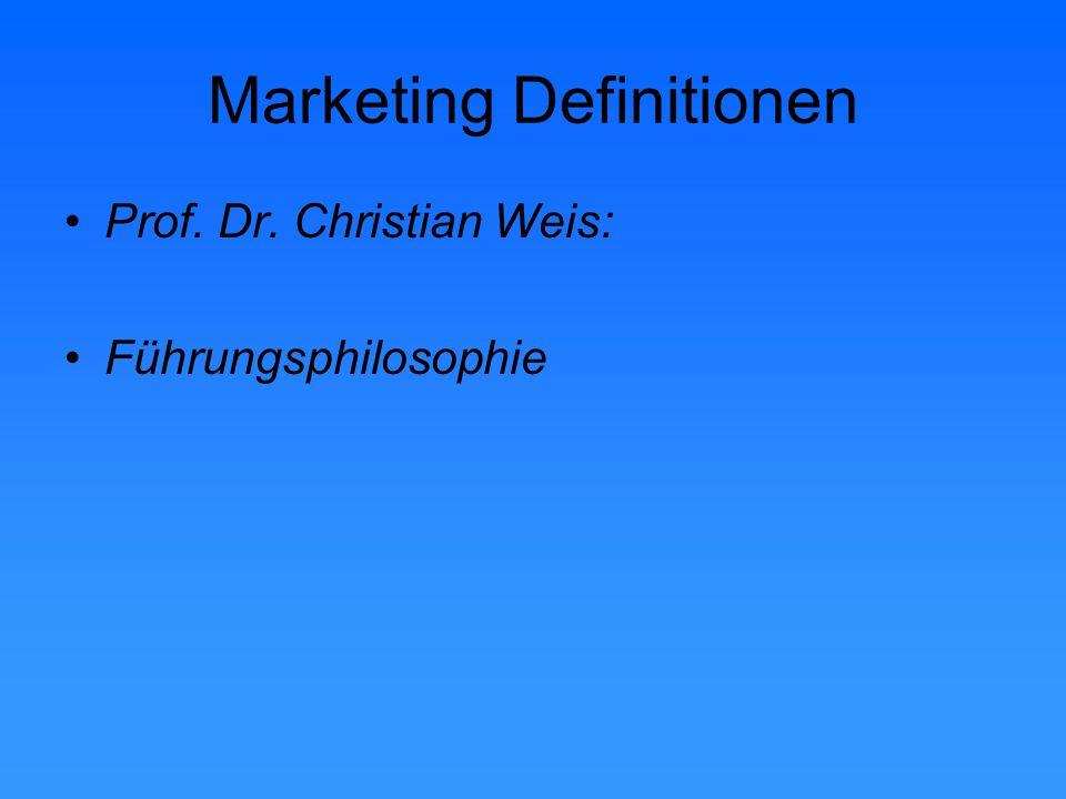 Marketing Definitionen Prof.Dr.