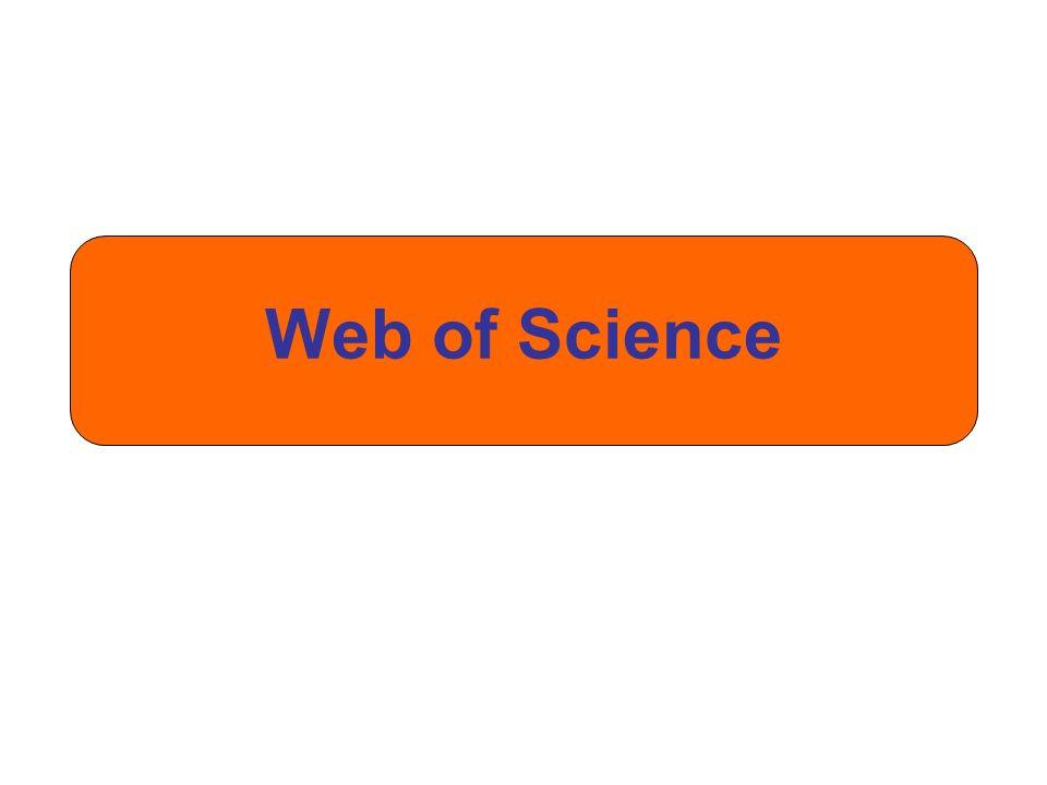 Verwende die Dropdown- Liste, um nach anderen Inhalten in Web of Science zu suchen.