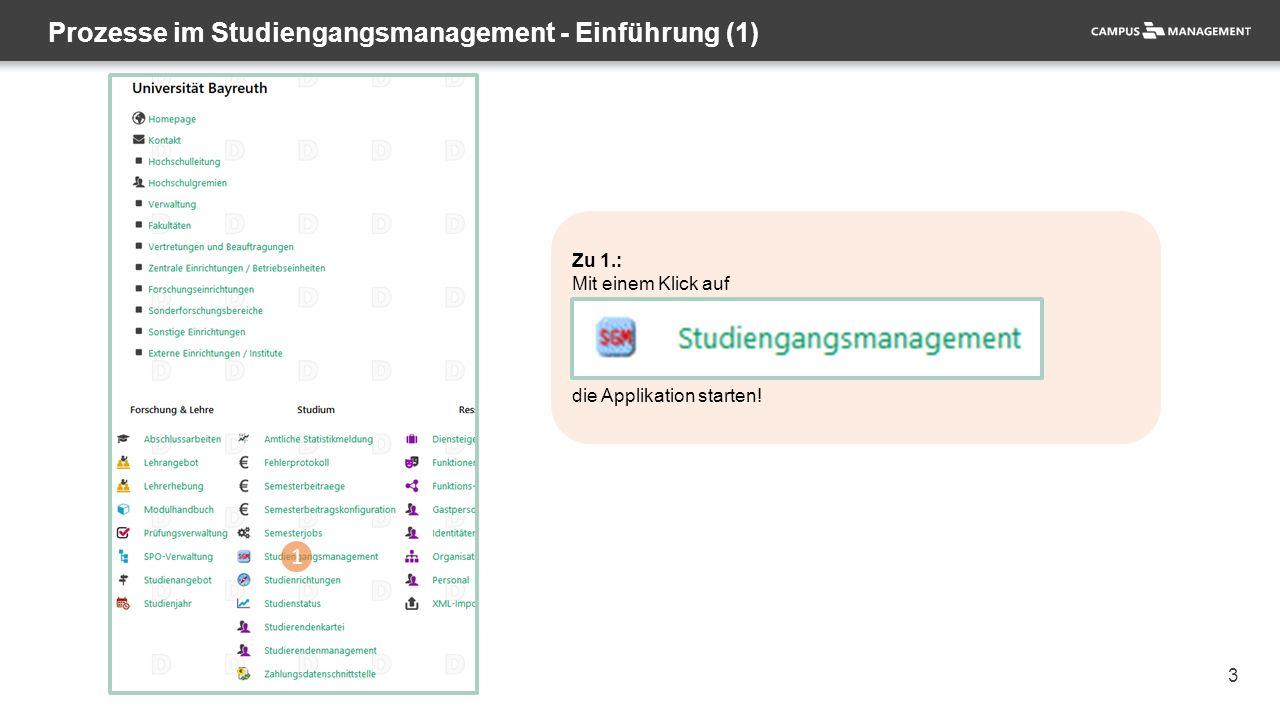 3 Zu 1.: Mit einem Klick auf die Applikation starten.