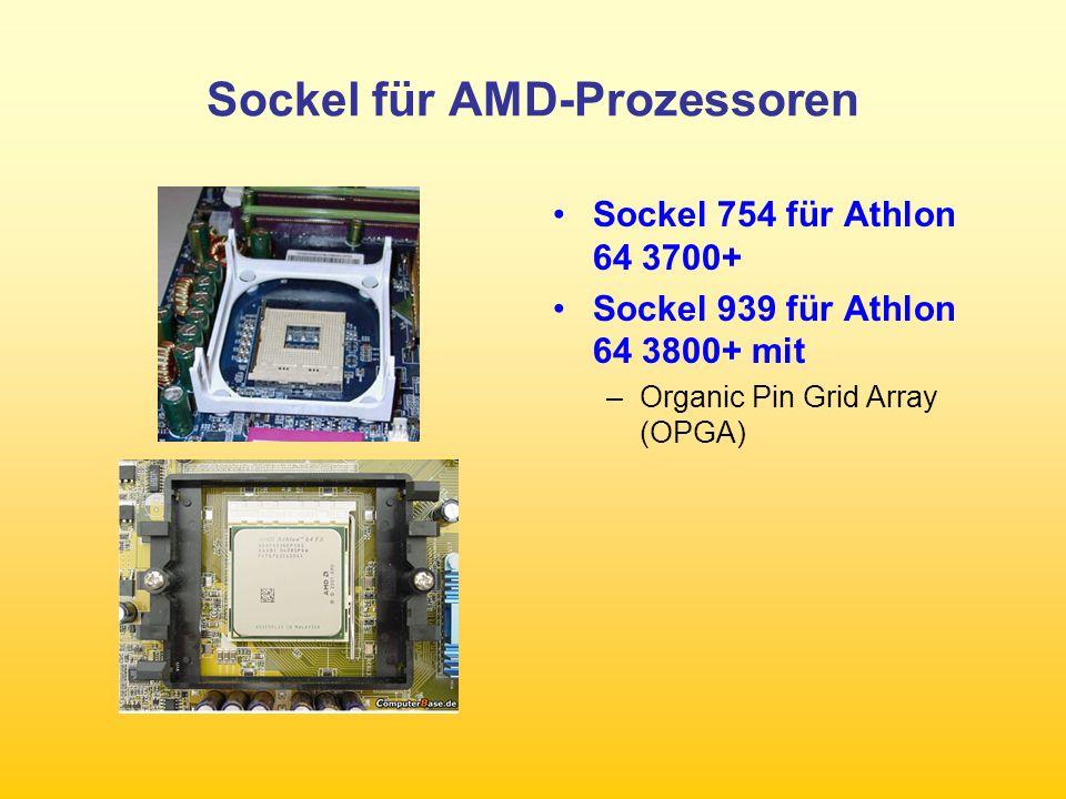 RAM-Bausteine DDR 2 löst DDR-SDRAM ab RDRAM mit Quad- Channel-Speicher- Interface