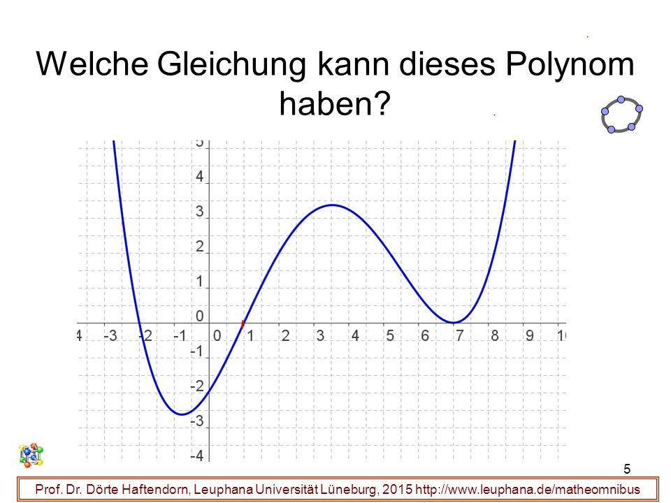 5 Welche Gleichung kann dieses Polynom haben? Prof. Dr. Dörte Haftendorn, Leuphana Universität Lüneburg, 2015 http://www.leuphana.de/matheomnibus