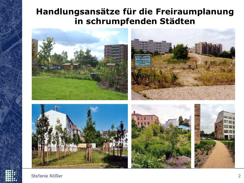 Stefanie Rößler2 Handlungsansätze für die Freiraumplanung in schrumpfenden Städten