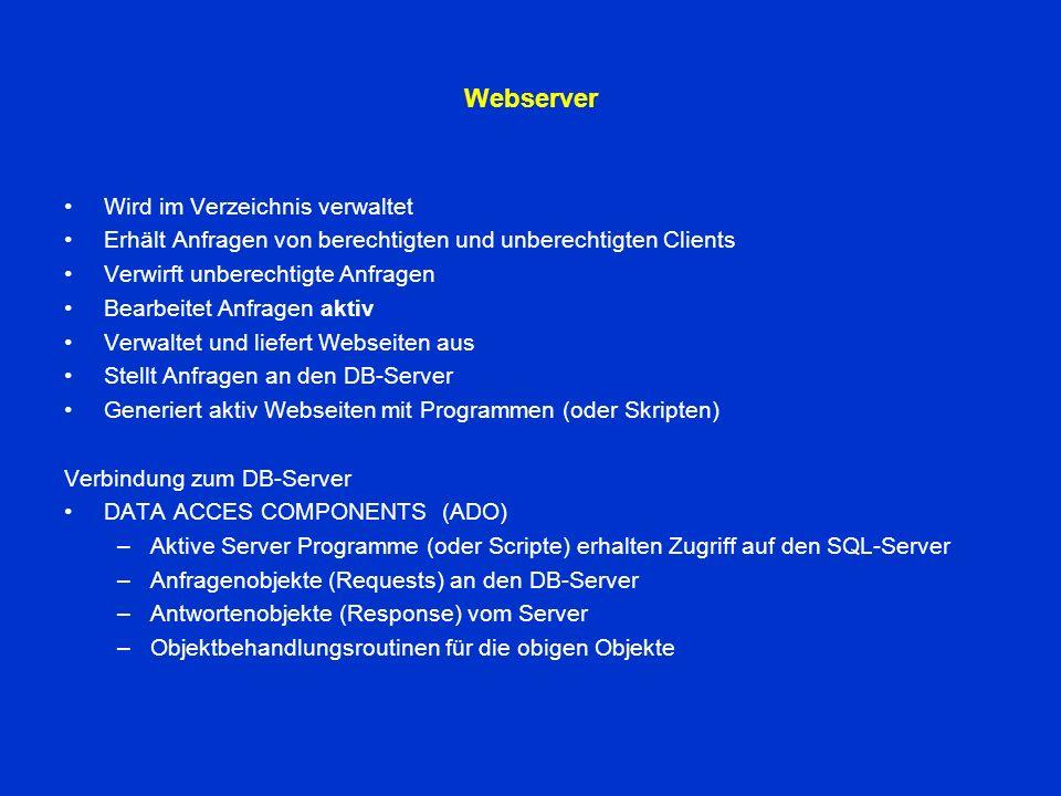 Netzwerkadministration Aufgaben der Netzwerkverwaltung Administration von: Ebene 1TCP/IP Logische Netzwerkverwaltung Ebene 2DNS Namensauflösung Ebene 3Netzwerkdienste SQL Port: 1433 WEB Port: 80 Ebene 4Netzwerkprotokolle HTTP / HTTPSFTPMail Ebene 5Netzwerkverwaltung LDAP / ADSKerberos