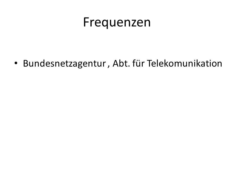 Bundesnetzagentur, Abt. für Telekomunikation