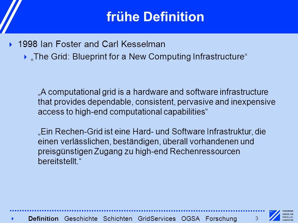 4 Moderne Definition  2000 Ian Foster, Sven Tuecke u.a.