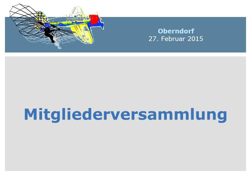 Mitgliederversammlung Oberndorf 27. Februar 2015