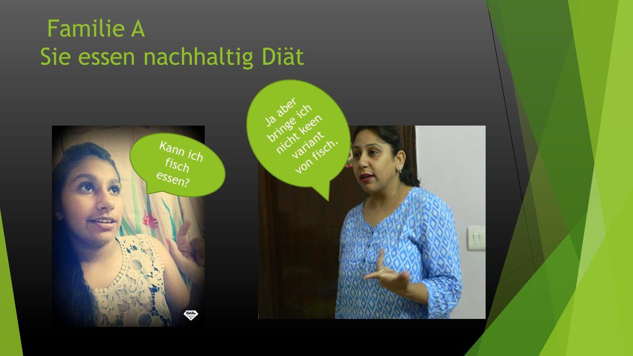 Familie B und Diät Sie essen ungesund und unausgewogen Diät
