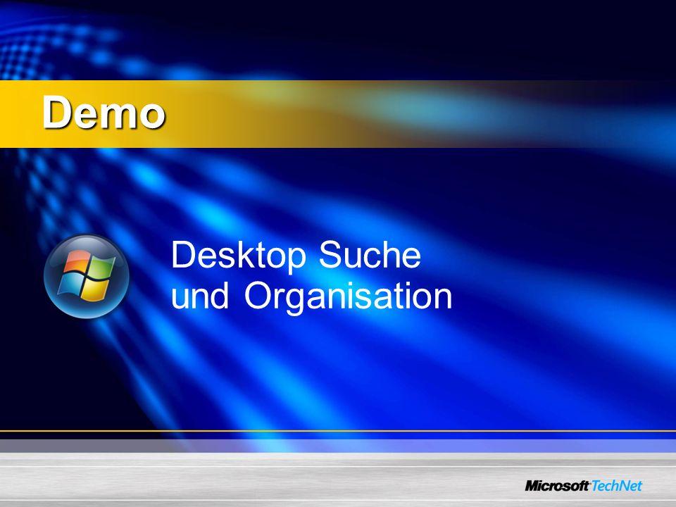 Desktop Suche und Organisation Demo